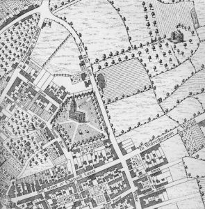 Colmore Row Map In 1731