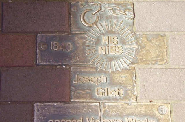 Joseph Gillott Open Victoria Works Brass Plate In The Jewellery Quarter 2008