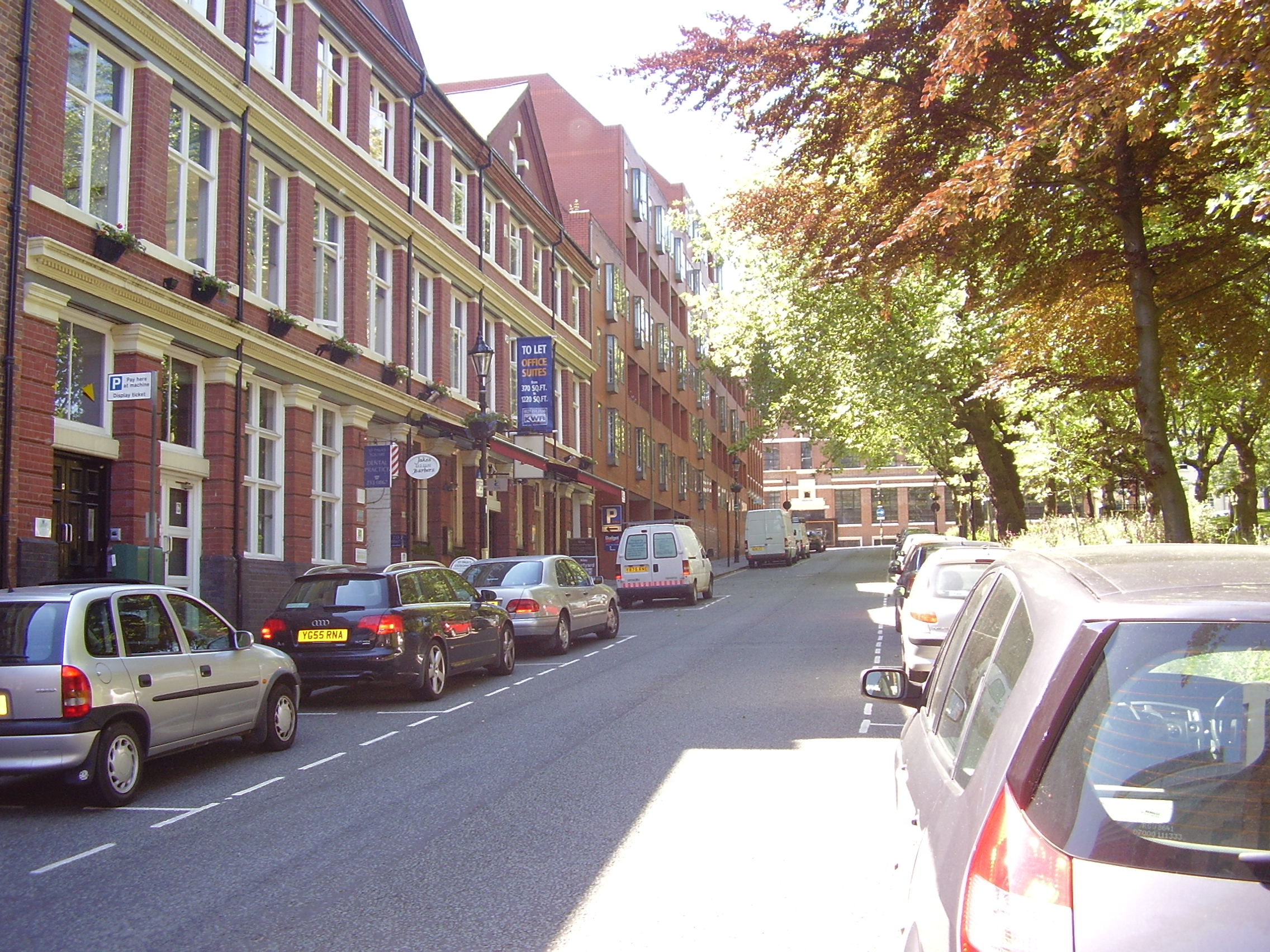 2008 Street view of St Pauls Square Area of the Jewellery Quarter Birmingham