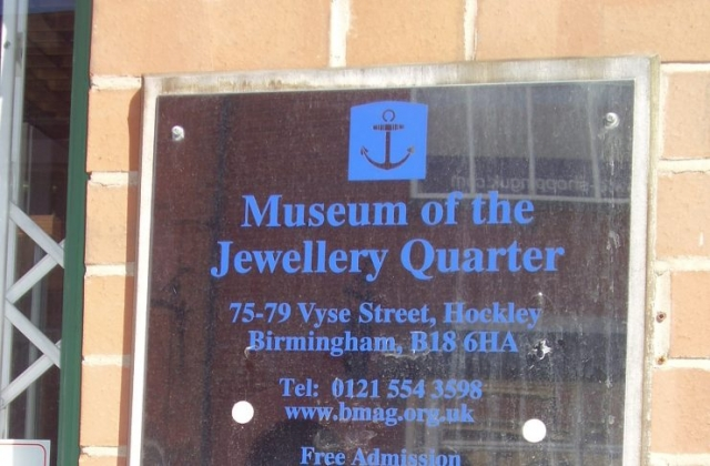 useum of the Jewellery Quarter Silver plaque 75-80 Vyse St, Birmingham B18 6HA, UK 2008