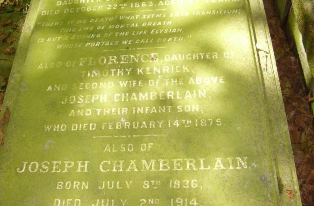 Joseph Chamberlain Plot Key Hill Cemetery Jewellery Quarter Birmingham 2008