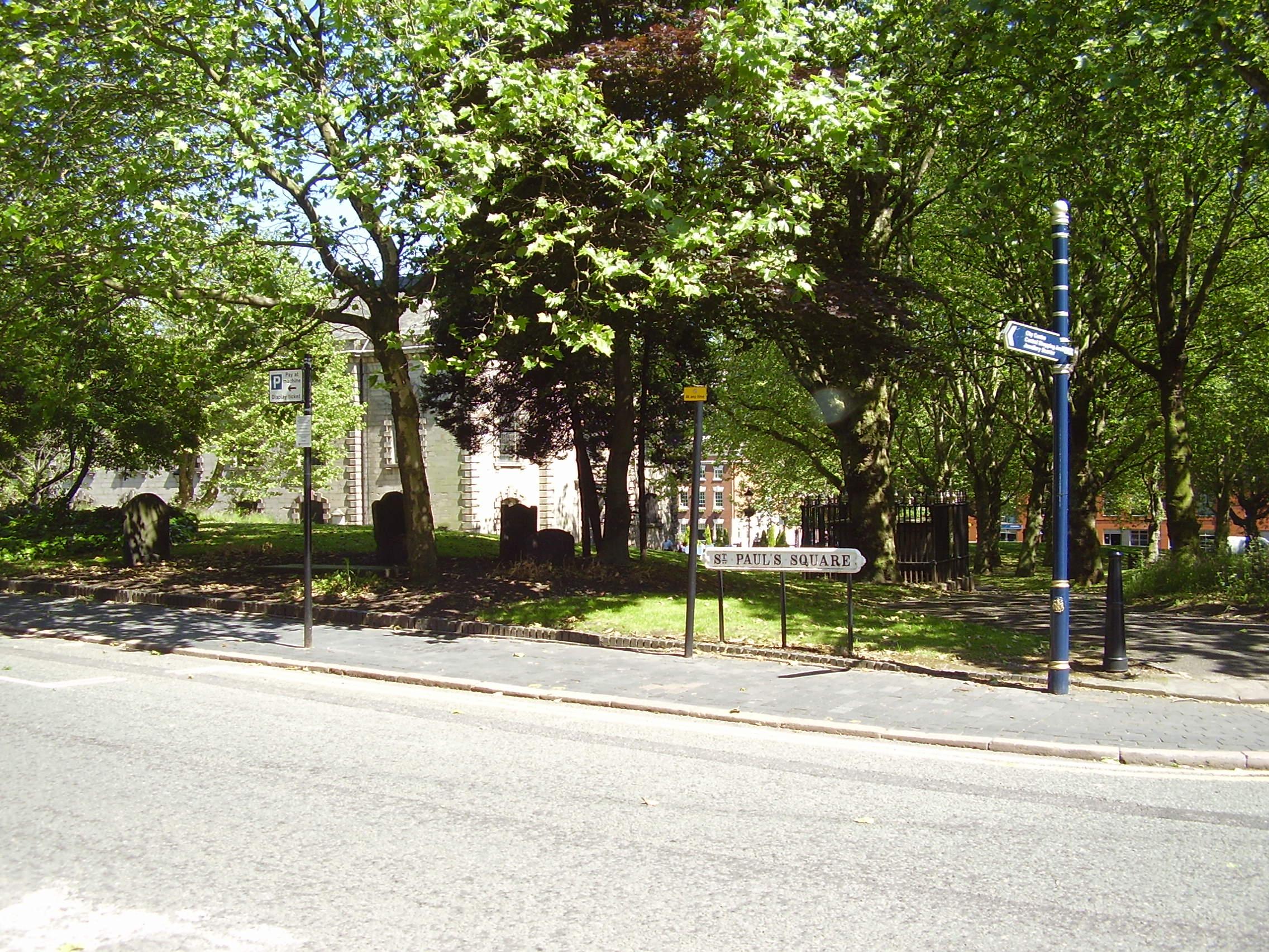 St Paul's Church Built in 1779  Grade 1 listed Birmingham Jewellery Quarter Photographed 2008
