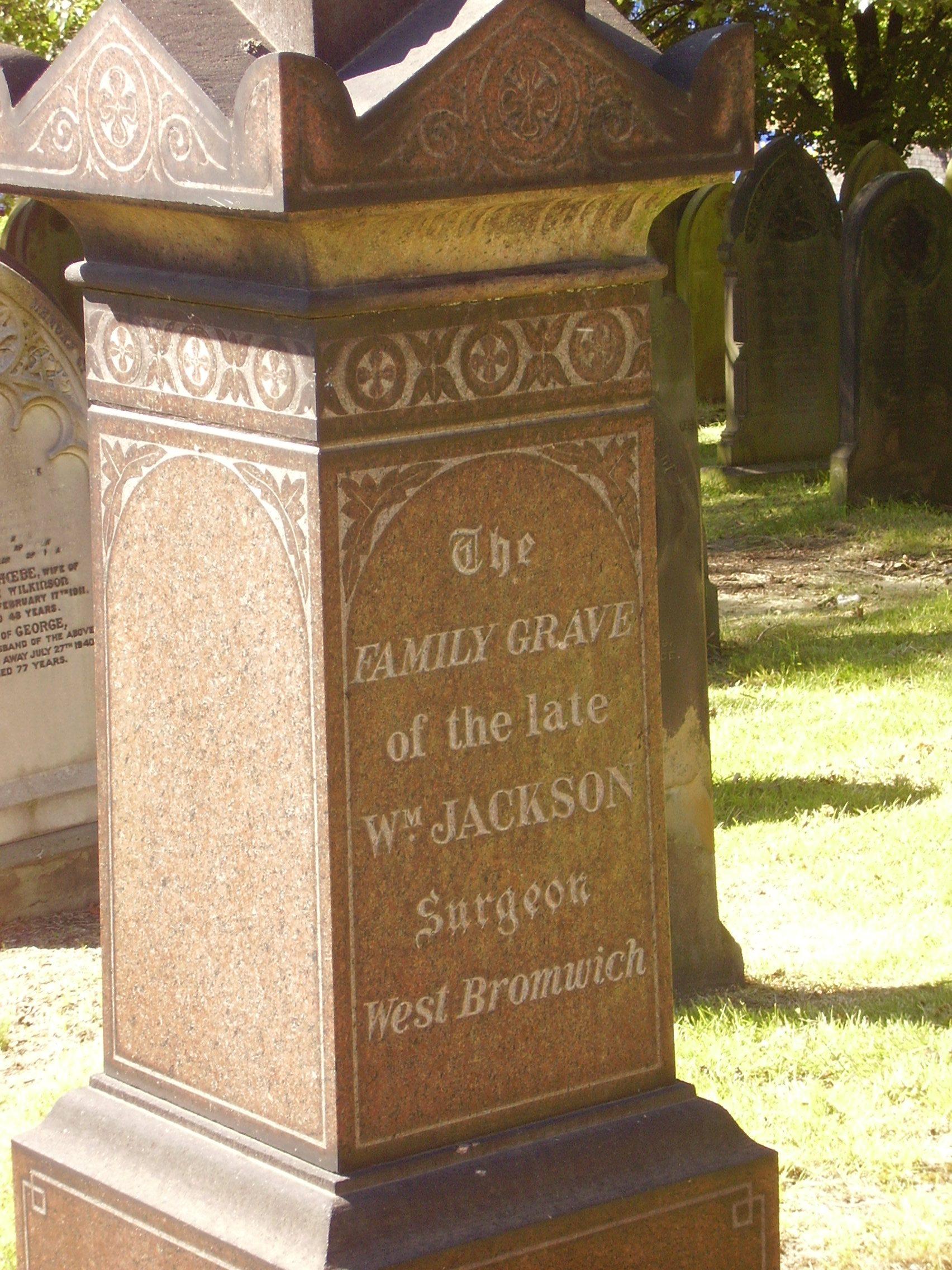 Photograph of headstone mint cemetery Jewellery Quarter Birmingham 2008
